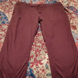 ASOS mens burgandy cargo pants